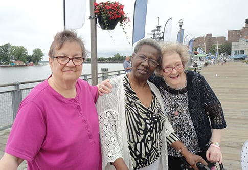 Photo of three residents at the Bristol Home Assisted Living Facility in Buffalo NY